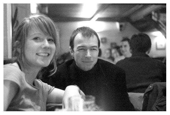 Kathrin und Thomas. Foto: Cunze. 2006.