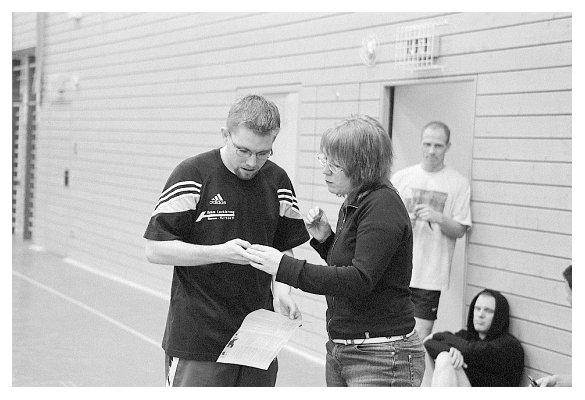 Vorne Jan Grage und Cindy Sierks. Hinten die dezimierten Müller-Rodes. 2006.